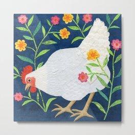 White Chicken #2 Metal Print
