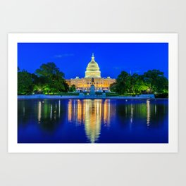 U.S. Capitol and Reflecting Pool Art Print