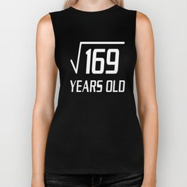 Square Root of 169 13 yrs old 13th birthday T-Shirt Biker Tank