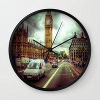 ben giles Wall Clocks featuring Ben by Christine Workman