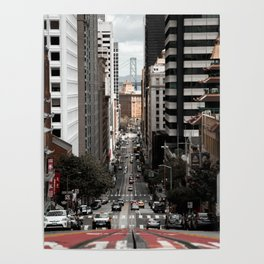 California Street - San Fransisco Poster