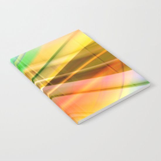 pattern pastel yellow and green Notebook