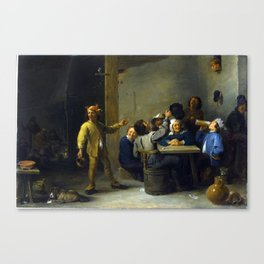 David Teniers the Younger Peasants Celebrating Twelfth Night Canvas Print