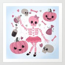 Love Potion Skeleton Dance Art Print