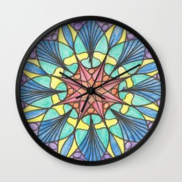 Octagonal mandala Wall Clock