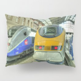 Marseille Trains of Grande Vitesse Pillow Sham