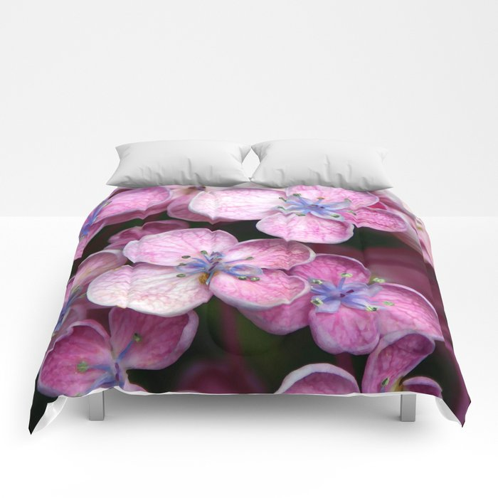 Purple Flowers Comforters