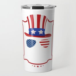 4th Of July Independence Day Freedom Free America USA Gift Travel Mug