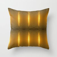 swedish Throw Pillows featuring Swedish Ripples by LesImagesdeJon