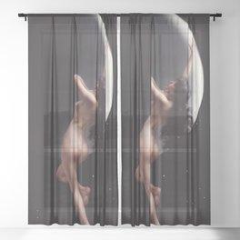 THE MOON NYMPH - LUIS RICARDO FALERO Sheer Curtain