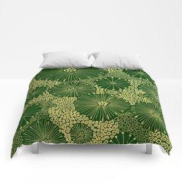 gold dandilion burst Comforters