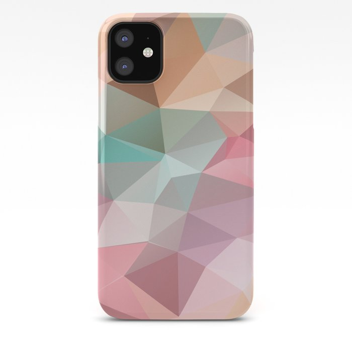 Abstract Triangles Polygonal Pattern IPhone Case By