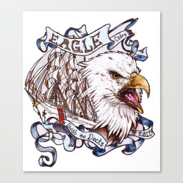 EAGLE Cadre T-shirt edition Canvas Print