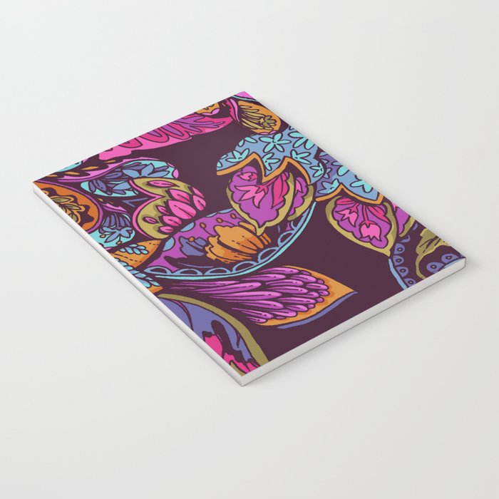 Paisley Dreams - sunset colors Notebook