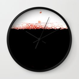 Glass of red wine Wall Clock