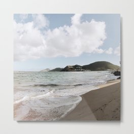 Beach at St.Kitts Metal Print