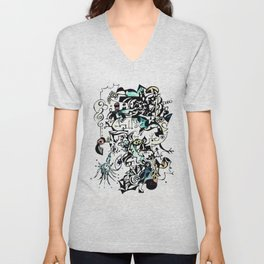 Abstract 5 Unisex V-Neck