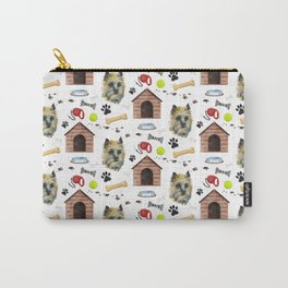 Cairn Terrier Face Half Drop Repeat Pattern Carry-All Pouch