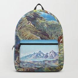 Heinrich Berann - Panoramic Painting Yellowstone National Park (1991) Backpack