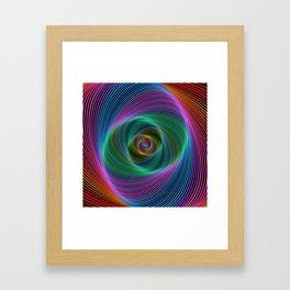 Psychedelic Spiral Stripes Framed Art Print