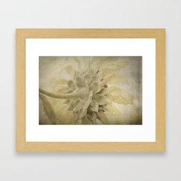 Texture Sunflower Framed Art Print