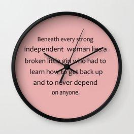 Strong Woman Wall Clock