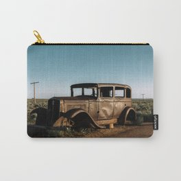 Vintage car at Petrified Forest National Park Carry-All Pouch