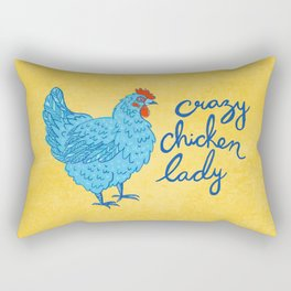 Crazy Chicken Lady Rectangular Pillow