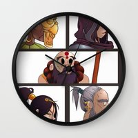 gorillaz Wall Clocks featuring Diablo Days by Philtomato