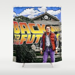 Welcome to Hill Valley Shower Curtain