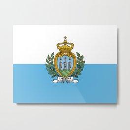 San Marino Flag Metal Print
