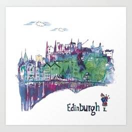 Once upon a time in Edinburgh Art Print