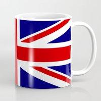 british flag Mugs featuring British Union Flag by PICSL8