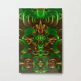 Jungle Roots Temple Metal Print