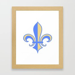 Two Tone Fleur-de-Lis Framed Art Print