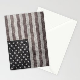 American flag, Retro desaturated look Stationery Cards