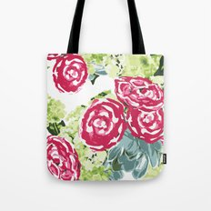 Peonies, Hydrangeas and Succulents Tote Bag