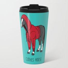 Clothes Horse Red Travel Mug