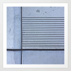 Concrete Stripe Blue Art Print