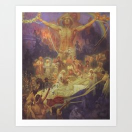 Alfons Mucha - The Apotheosis of the Slavs' History (1926) Art Print