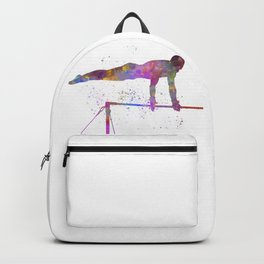 Olympic sport, barbell in watercolor Backpack