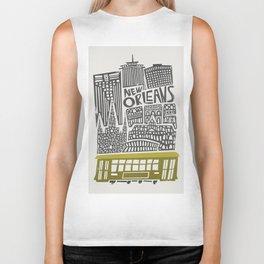 New Orleans City Cityscape Biker Tank