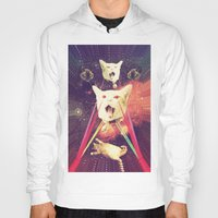 saga Hoodies featuring galactic Cats Saga 4 by Carolina Nino