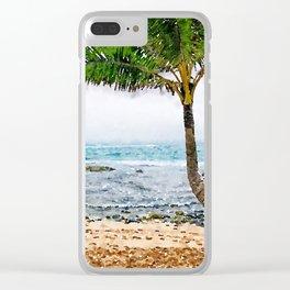 Maui Palm Tree Clear iPhone Case