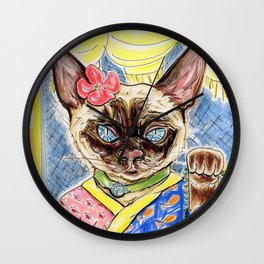 Lucky Cat Wall Clock