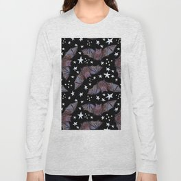 Super Cute Kawaii Bats and Stars Pattern Long Sleeve T-shirt