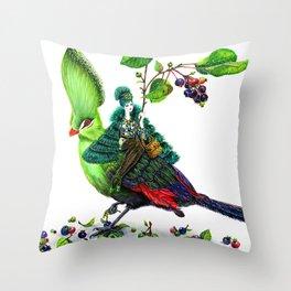 Turaco Throw Pillow