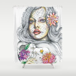 Nostalgia in Bloom Shower Curtain