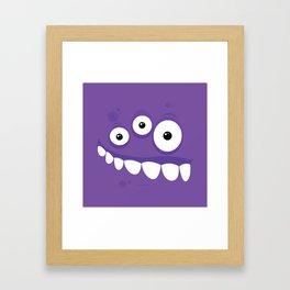 Psychos - Crazy Monsters (Purple) Framed Art Print