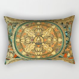 Buddhist Mandala Five Circles 1  Rectangular Pillow